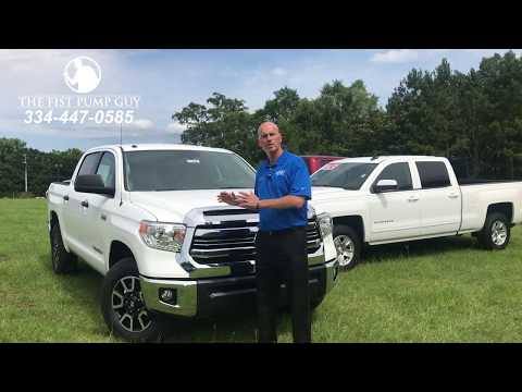 Toyota Tundra turning radius versus the competition with The Fist Pump Guy at Bondy's Toyota