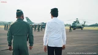 Momen Presiden Jokowi bersama Penerbang Garuda Flight dan Nusantara Flight, Magetan, 19 Agustus 2021