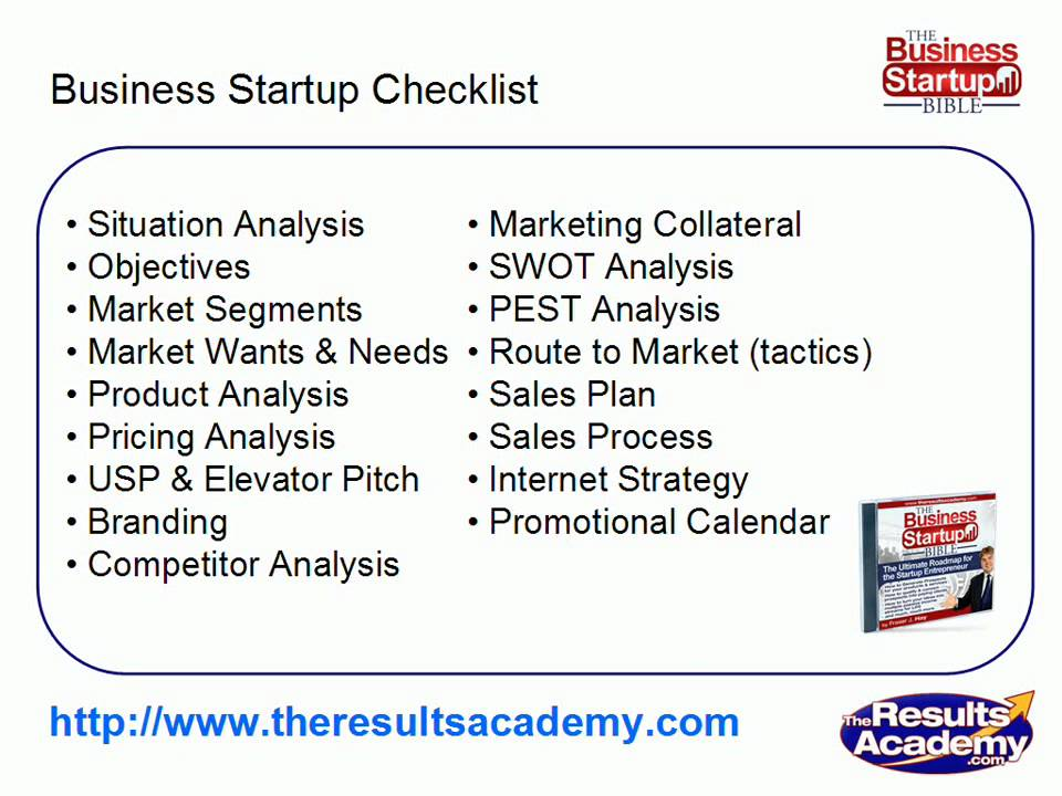 Business Startup Checklist Part 9 - Template Marketing Plan From