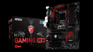 mSI H170 Gaming M3 unboxing