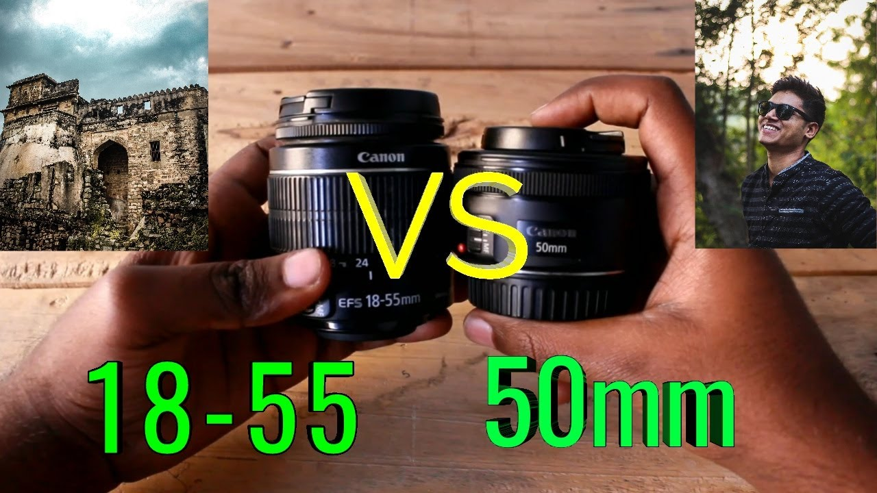 CANON 50MM VS 18-55MM | CANON 50MM 1.8 STM | CANON 18-55MM LENS REVIEW