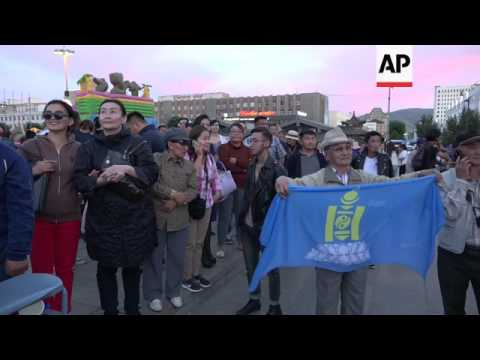 Thousands celebrate Mongolia's new president