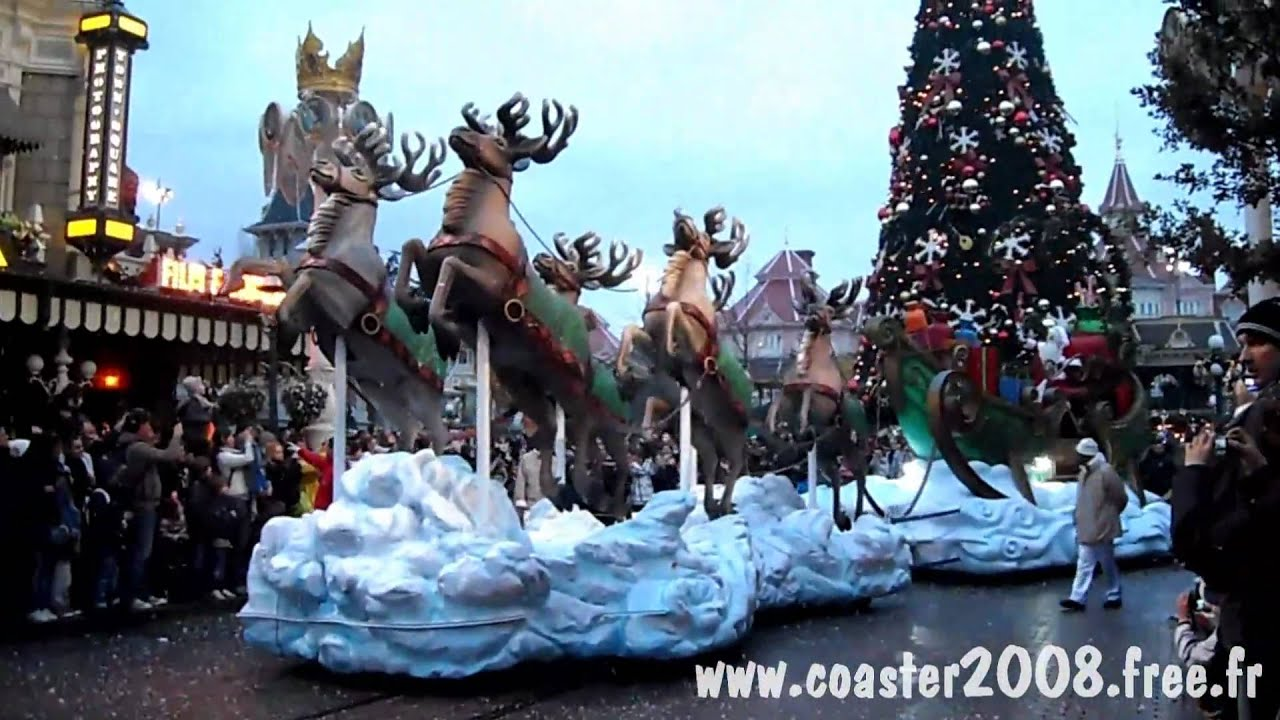 Hd Parade De Noel 2010 Disneyland Paris Youtube