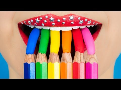 eat-candy-in-class?!-food-hacks,-diy-school-supplies-&-prank-wars!