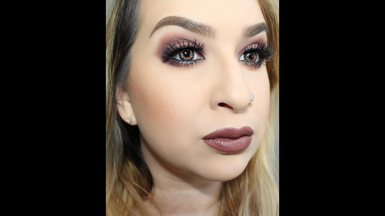 90s Grunge Makeup Purple Orange Smokey Eye Youtube