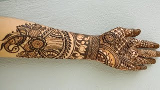 Full Hand Beautiful Bridal (Wedding, Dulhan) Peacock Mehndi Design - Shimmi