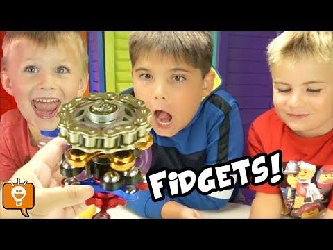 DIY Fidget Spinners + Biggest Egg Fidgets Compilations by HobbyFamilyTV