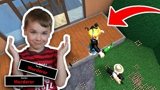 TRICKING MY DAD AS MURDERER | ROBLOX MURDER MYSTERY 2 | BEING A MURDERER MULTIPLE TIMES
