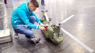 SUPER BIG RC HELI BICOPTER CHINOOK I 2. PLACE ON TV I Boeing-Vertol CH-47 I INTERMODELLBAU  I