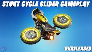 Fortnite - New Leaked Stunt Cycle Glider Gameplay (Unreleased) Season X