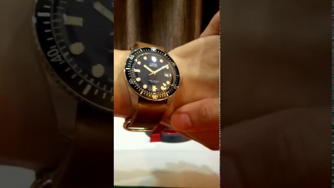 oris divers sixty five 65 nato leather vintage strap 豪利时 youtube