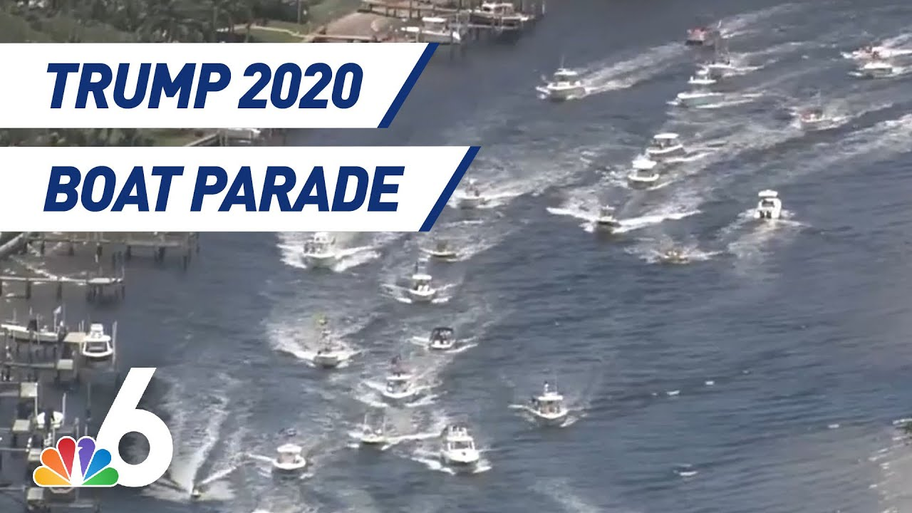 Trump supporters hold car and boat parades in Palm Beach County