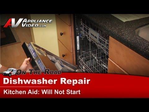 Dishwasher Repair will not start  - Repair & Diagnostic - Kitchen aid - Whirlpool