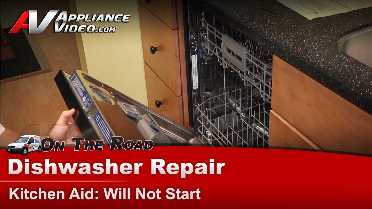 Dishwasher Repair Will Not Start   Repair U0026 Diagnostic   Kitchen Aid    Whirlpool   YouTube