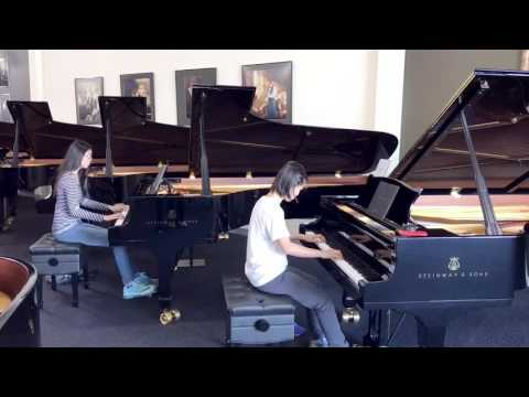 SERGEI RACHMANINOV PLAYED PLAYED ON TWO STEINWAY MODEL D CONCERT GRAND PIANOS