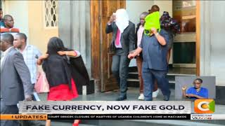 Fake gold seized in the safe deposit box that held fake dollars