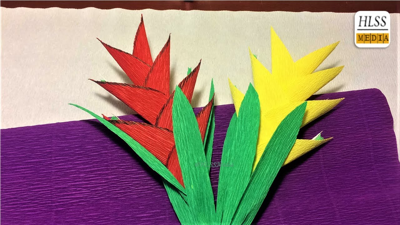 craft ideas making flowers how to make heliconia flower with paper diy origami 3924