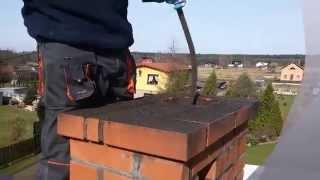 Czyszczenie mechaniczne komina łańcuchowo (szlamowanie)