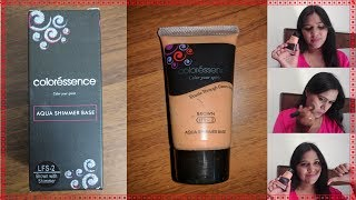 Coloressence Aqua Shimmer Base Foundation Review amp Demo