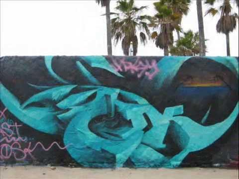 Venice Art Walls Graffiti Venice Beach California MAY 13, 2008 - YouTube