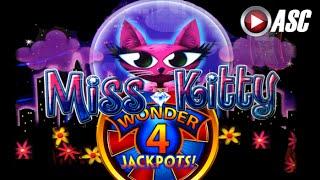 *NEW* WONDER 4 JACKPOTS™ MISS KITTY  | Aristocrat - BIG Win! Slot Machine Bonus