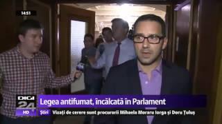 Mihai Tudose, filmat cu țigara aprinsă în Parlament