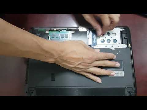 Asus X44H Hard Drive Replacement Disassembly Take Apart.