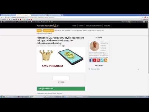 Blokada treści przez usługę SMS Premium Dotpay w systemie WordPress
