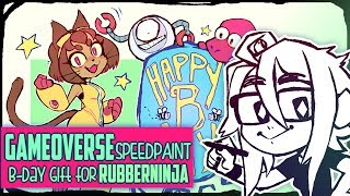 ★ SPEEDPAINT ★ Gameoverse - B-day Gift for RubberNinja!