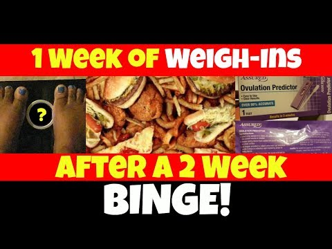 SCALE WEIGHT FLUCTUATIONS: 1 Week of Weigh-Ins After Binge + Ovulation Gain | WEIGHT LOSS JOURNEY