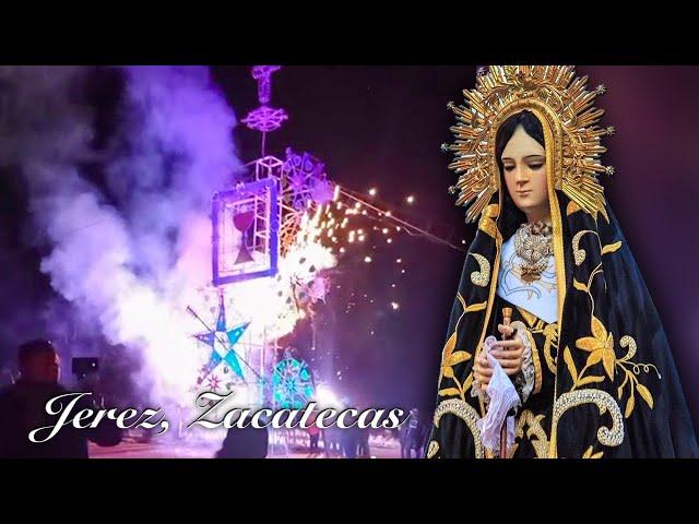 Ofrenda Pirotécnica en honor a la Virgen de la Soledad en Jerez