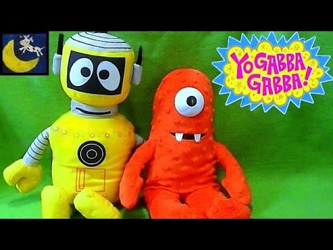 Yo Gabba Gabba Toys! Interactive Play Along Talking Plex and Gab N Sing Muno Plush Toys!
