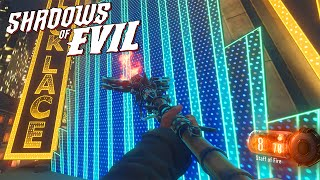 BLACK OPS 3 ZOMBIES - FIRE STAFF ON SHADOWS OF EVIL EASTER EGG MOD! (BO3 Zombies)