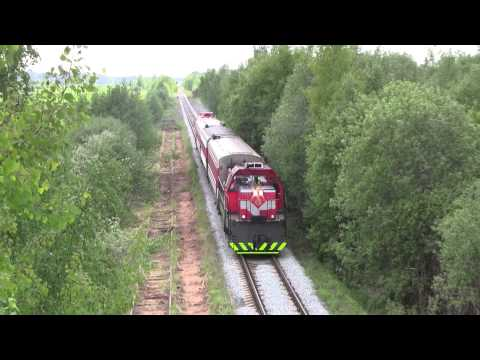 Tourist train in Lithuania 2013