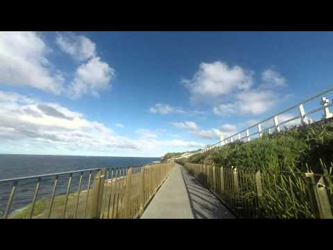 Bondi Beach to Coogee Beach walk time lapse