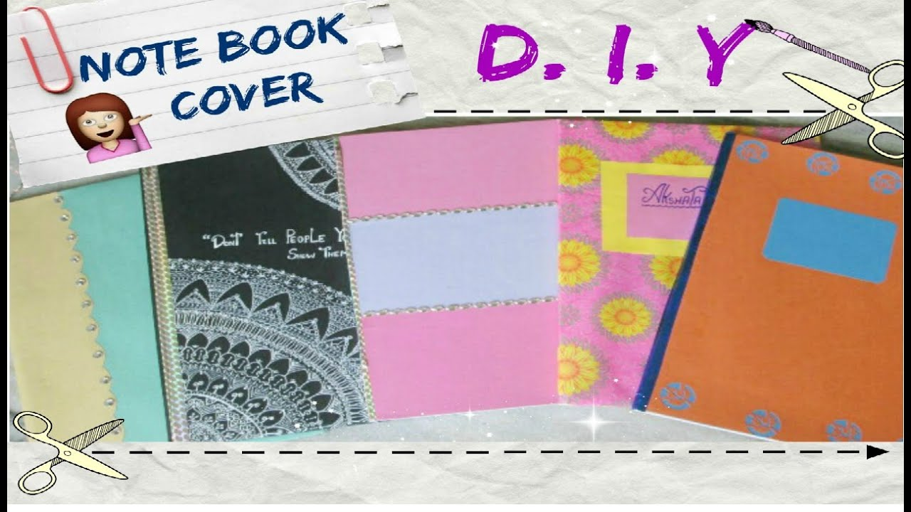How To Make A Removable Book Cover ~ Diy notebook cover ideas 💙 back to school youtube