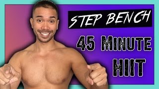 45 Minute Fat Melting Step HIIT Workout for Strength, Cardio and Abs | Mike Donavanik (MikeDFitness)