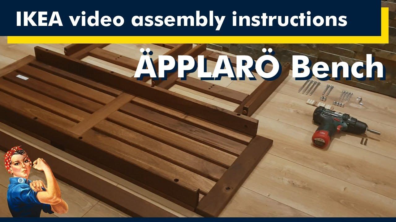 IKEA assembly instructions, ÄPPLARÖ Bench