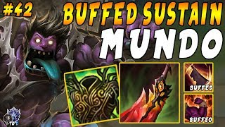 Download SUSTAIN Mundo Top with Warmogs | Unstoppable Healing and Tankiness! | Iron IV to Diamond Ep #42 Mp3 and Videos