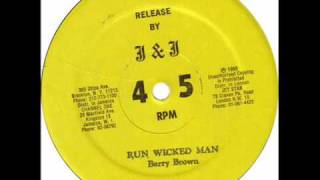 Barry Brown - Run Wicked Man