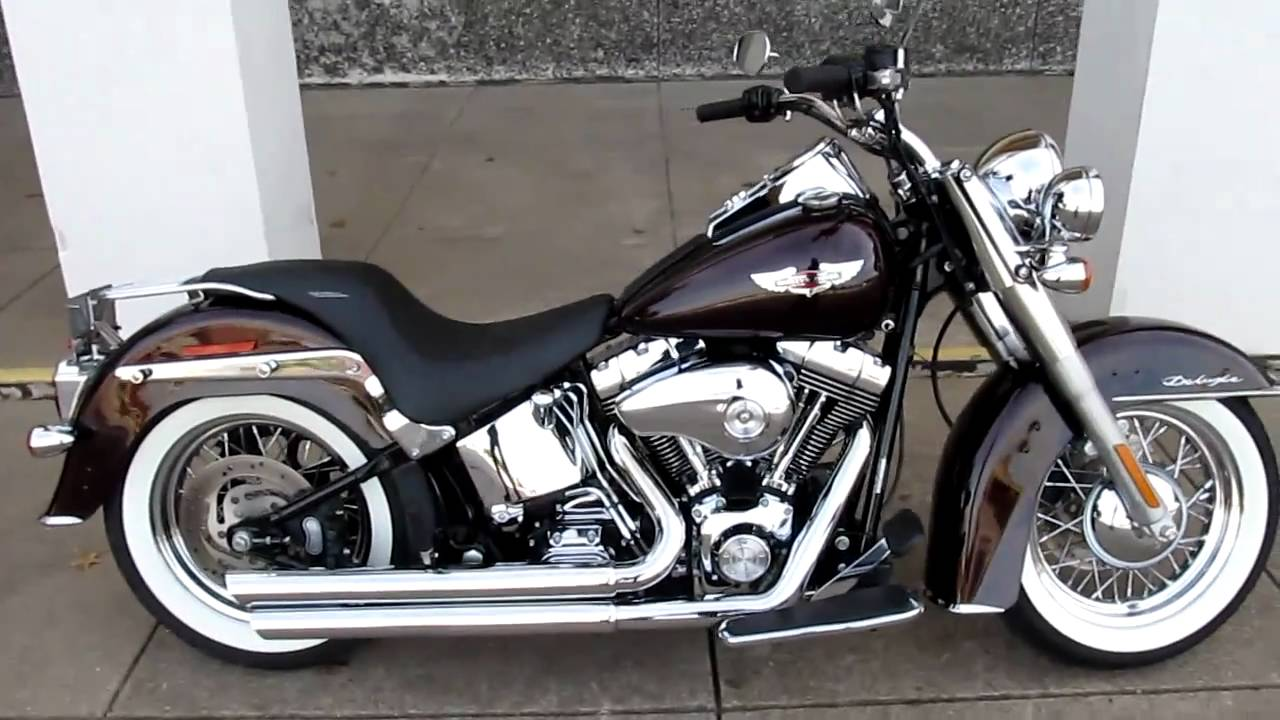 Harley Softail Deluxe Vance Amp Hines Exhaust Hear It Run