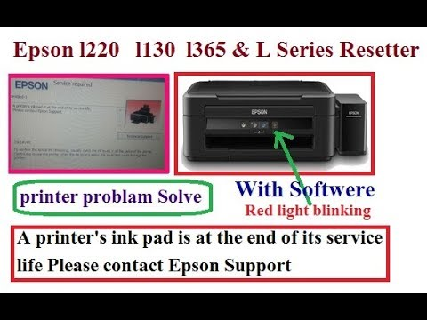 A Printer's Ink Pad Is At The End Of Its Service Life Please Contact Epson Support