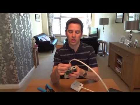 How To install a CAT6 Network Faceplate Socket & RJ45 Plug using soild core cable.