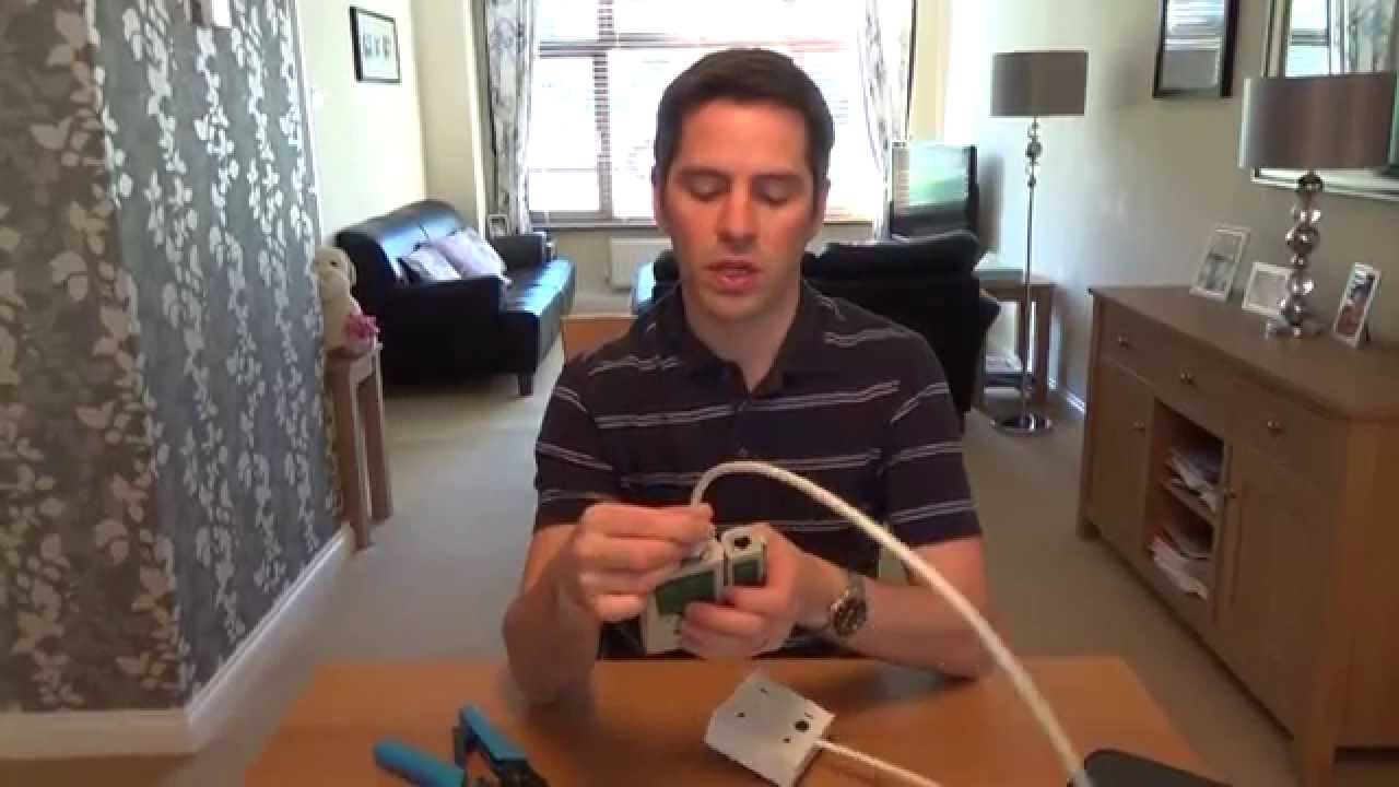 How To Install A Cat6 Network Faceplate Socket Rj45 Plug Using Hide Wires Wall Mount Tv Outlet On Basic Wiring Outlets Soild Core Cable Youtube