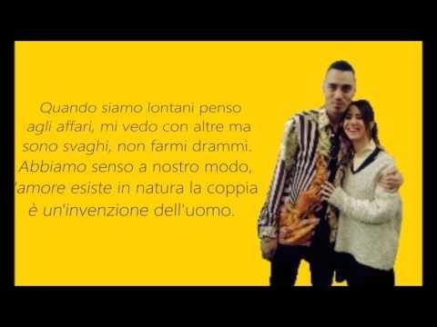 Niente canzoni d'amore. (Lyrics) -Marracash ft. Federica Abbate.