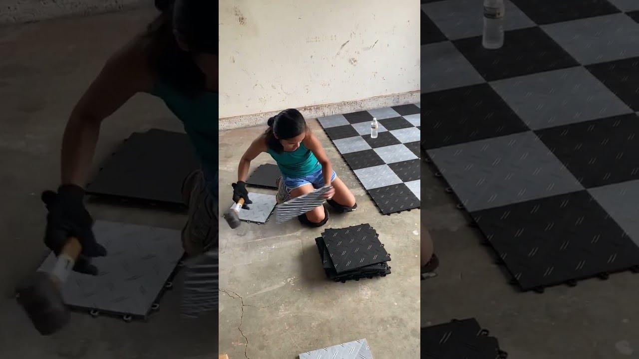 How To Put Moto Floor Modular Garage, Motofloor Modular Garage Flooring Tiles