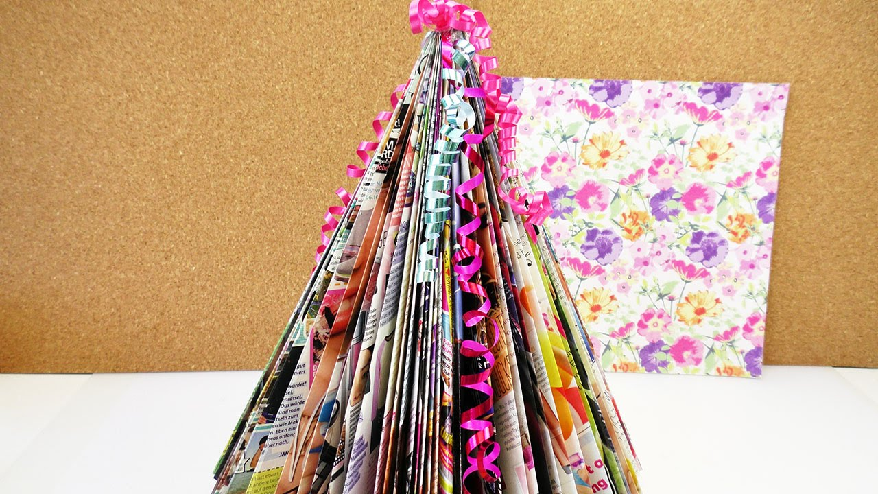 mini weihnachtsbaum selber machen bunten tannenbaum. Black Bedroom Furniture Sets. Home Design Ideas