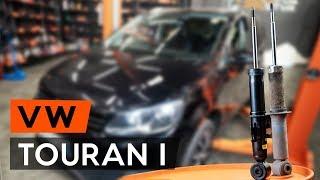 Hvordan bytte bak støtdemper der på VW TOURAN 1 (1T3) [BRUKSANVISNING AUTODOC]