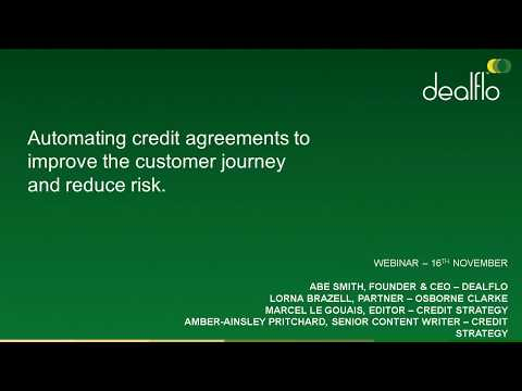 Automating Credit Agreements: How to improve the customer journey and reduce risk