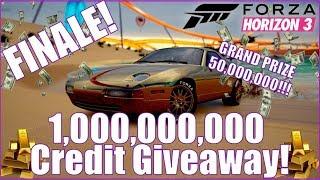 1 BILLION CREDIT GIVEAWAY FINALE! Forza Horizon 3